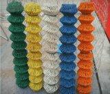 PVC에 의하여 입히는 체인 연결 담 메시 또는 사슬 철사 담