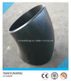 Codo del tubo sin soldadura del acero de carbón de LR 45degree