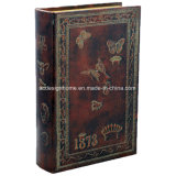 Antiker stilvoller Brown MDF-Buch-Kasten mit Basisrecheneinheits-Krone 1873