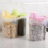 Limpar o tanque de armazenamento de comida de cozinha com copo plástico de grande capacidade de armazenamento de PP mais nítida dos cereais sem BPA
