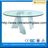 Verre trempé en verre pour table à manger en verre