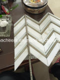 Telha de mármore branca por atacado de Calacatta para a decoração do banheiro