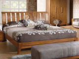 固体木のベッドの現代ダブル・ベッド(M-X2297)