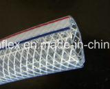Mangueira de água reforçada com fibra de PVC de 1/2 polegada