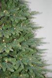 現実主義者のストリングライトマルチカラーLED装飾(AT1079)が付いている人工的なクリスマスツリー
