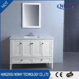 Module debout de vanité de salle de bains d'étage en bois solide de modèle simple