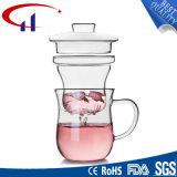 Copo de chá de vidro Handmade popular com mão (CHT8620)