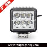 12V/24V de 3 pulgadas cuadradas de 18W de luz LED de trabajo pesado de camiones mineros