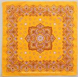 Factory OEM Produce Customized Design Sérigraphie Yellow Cotton Headwrap Bandana