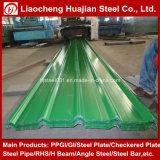 Hoja acanalada del material para techos del metal de hoja de acero con la muestra libre