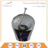 Lampada di olio di vetro di Colorized, lampada di olio del cherosene