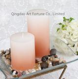 Il colore si sbiadice candela profumata di vetro del vaso per la decorazione domestica