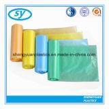 Bolso de basura plástico del HDPE colorido en el rodillo