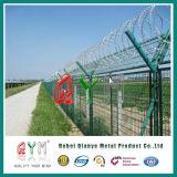 Панель загородки металла ячеистой сети /Welded загородки авиапорта PVC Coated