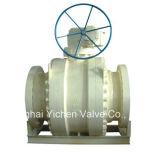 Válvula de esfera com flange montado com tronco de porta total