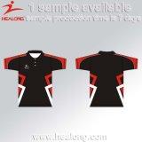 Polo der kundenspezifischen Sport-Abnützung-Sublimation-Hemd-Männer
