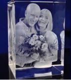 3D Machine van de Gravure van de Laser voor het Glas van het Kristal Acryl hsgp-4kb