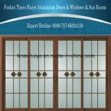 Puerta deslizante de aluminio de cristal de la capa doble de la buena calidad del precio de fábrica para la alameda
