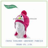 Детей Cute зимний теплый трикотаж Earflap Red Hat