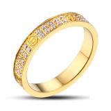 최신 판매 다이아몬드 18k 금에 의하여 도금되는 결혼 반지