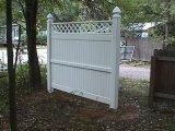 Haut de la vie privée de clôture en PVC avec Top Lattice