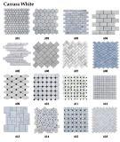 Italienische weiße Marmorfußboden-Fliese-Minifisch-Schuppen-Mosaik-Fliese
