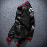 Куртка подгонянной пары бейсбола пилота вышивки PU кожаный
