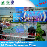 China Wholsale Wedding Glass Moving Stage Plexiglass Stage