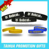 Wristband di gomma del braccialetto sottile del silicone di promozione (TH-band029)