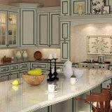 Linha Verde gabinete do estilo de Oppein América de cozinha do PVC (OP15-PVC01)