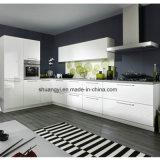 Gabinete de cozinha moderno modular de China do lustro elevado branco da laca