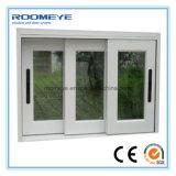 Roomeye tres pistas dobla la hierba que resbala el fabricante de la ventana del PVC (RMSW-11)