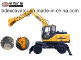 Compartimiento hidráulico de los excavadores 8.5ton/0.3cbm de la nueva rueda