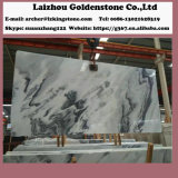 De opgepoetste Grijze Marmeren Plak betegelt Bewolkte Grijze Marmeren Tegels China