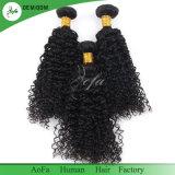 Оптовое перуанское курчавое отсутствие линяя человеческих волос девственницы ранга Dyeable 8A