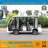 행락지를 위한 도로 배터리 전원을 사용하는 고전적인 셔틀 전기 동봉하는 관광 소형 버스 떨어져 8명의 전송자