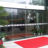 Puerta automática de bajo ruido, marco de acero inoxidable Puerta corredera de vidrio