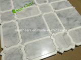 Azulejo de suelo de mármol blanco de mármol blanco italiano de Carrara