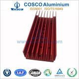Lega di alluminio anodizzata rossa per il dissipatore di calore domestico di applicazione