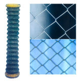 Frontière de sécurité protégée enduite par PVC de maillon de chaîne de treillis métallique