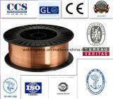 Alambre de soldadura del material de soldadura (ER70S-6/SG2/YGW12/A18/G3Si1)