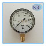 Pressão do calibre do calibre da cápsula no diâmetro 63mm do plexiglás