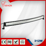 Brightness 최고 크리 말 312W Curved Offroad LED Light Bar