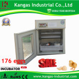 CE approuvé (176 oeufs) automatique petit incubateur de la volaille