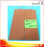 calentador flexible del caucho de silicón 250c para la placa solar del laboratorio