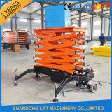 Hydraulic mobile Scissor Cargo Lift Table con Ce