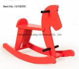 Cavalo de balanço de madeira vermelha