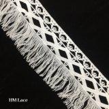 8,5 cm Venise les garnitures de tissu dentelle la cosse à oeillet pour accessoire du vêtement blanc perle d'alimentation de l'artisanat avec les gouttes et des glands Hmhb1142