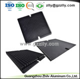 Usine dissipateur en aluminium anodisé noir pour refroidisseur à LED