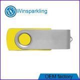 Populäres Schwenker USB-Blitz-Laufwerk mit blauer, grüner, roter Karosserie